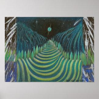 Poster del arte del camino de Uranian de Jude Cowe