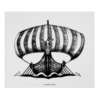 Poster del arte del dibujo de la tinta de la pluma