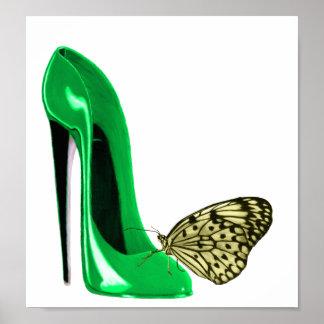 Poster del arte del estilete y de la mariposa del