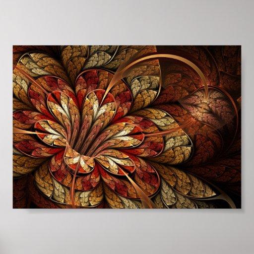 Poster del arte del fractal: Gloria del otoño