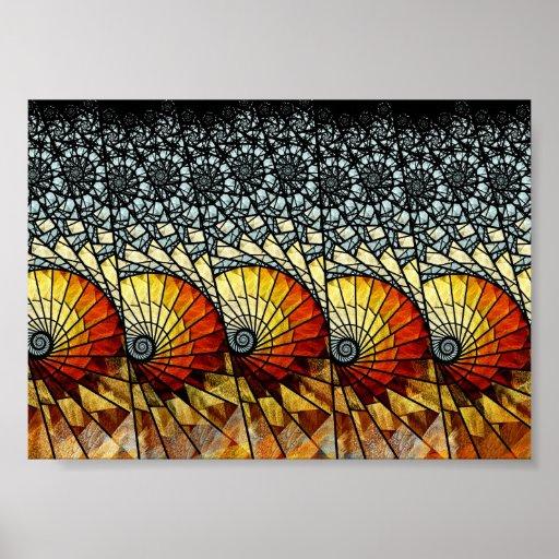 Poster del arte del fractal: Oleada