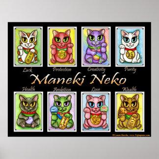 Poster del arte del gato de la fantasía de los