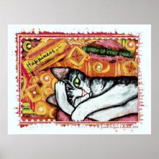 Poster del arte del gato del zen