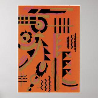 Poster del arte del jazz de Gladky de la sarga