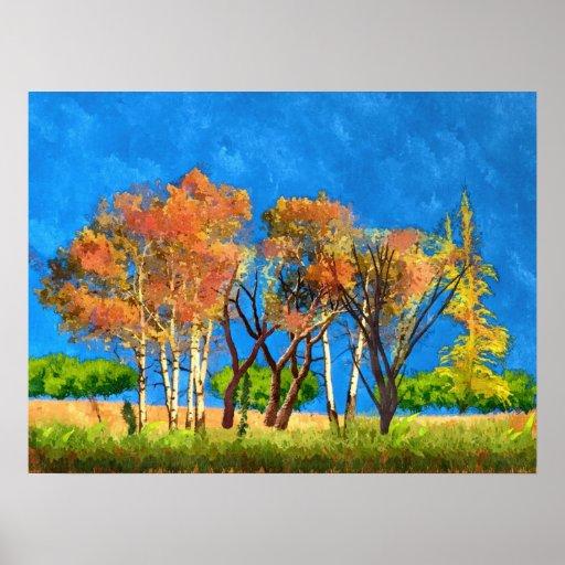 Poster del arte del paisaje de la naturaleza