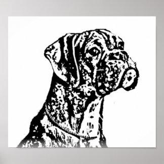 Poster del arte del perrito del boxeador