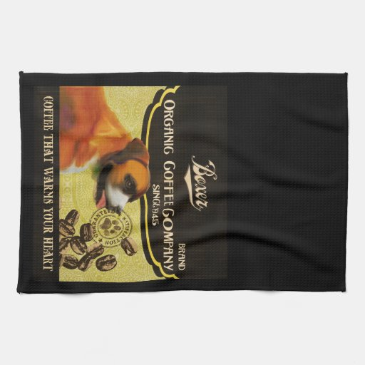 Poster del arte del perro del boxeador - compañía  toallas de mano