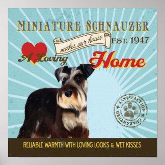 Poster del arte del perro del Schnauzer miniatura