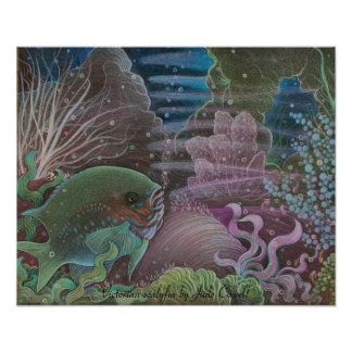 Poster del arte del scalyfin del Victorian