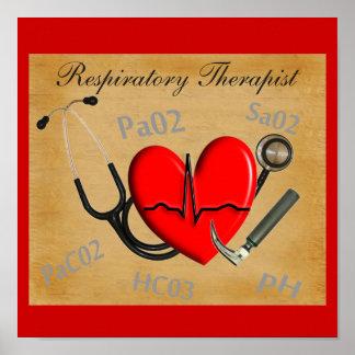 Poster del arte del terapeuta de Respirartory