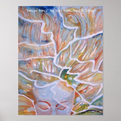 """Poster del arte del """"trance tranquilo"""" -"""