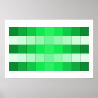 Poster del arte del verde de musgo de Colorstrips