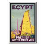 Poster del arte del viaje del vintage de Egipto Postal