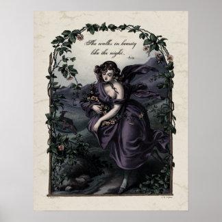Poster del arte del Victorian de la belleza de