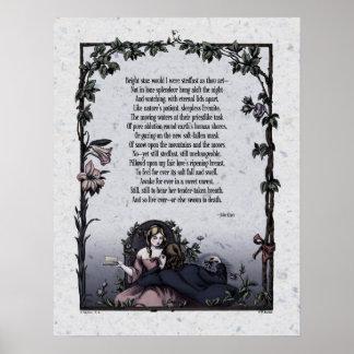 Poster del arte del Victorian de la estrella bril