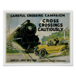 Poster del arte del vintage del anuncio de Crossin