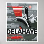 Poster del arte del vintage del anuncio del automó