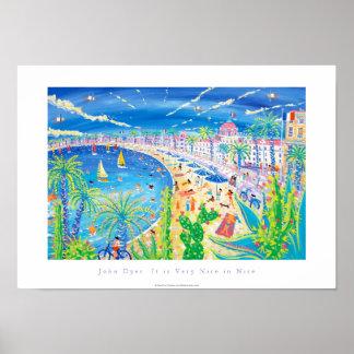 Poster del arte: Es muy bonito en Niza, d'Azur de
