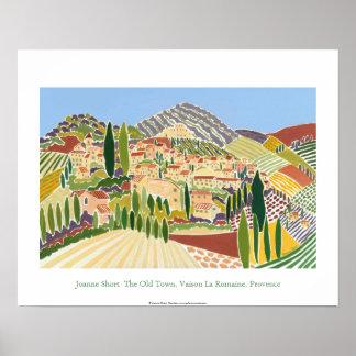 Poster del arte: La ciudad vieja, Vaison, Provence