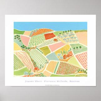 Poster del arte: Ladera de Provence, Rasteau, Fran
