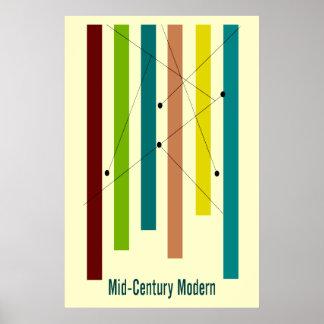 Poster del arte moderno de los mediados de siglo