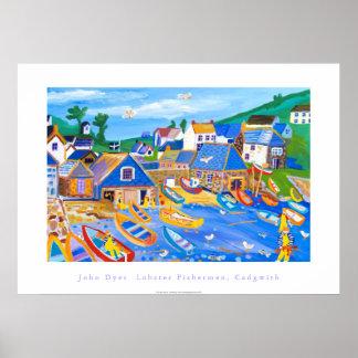 Poster del arte: Pescadores de langosta, Cadgwith,