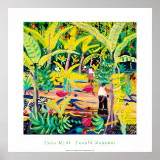 Poster del arte: Plátanos de la selva, selva tropi