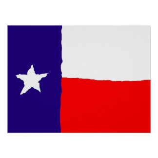 Poster del arte pop de la bandera de Tejas -
