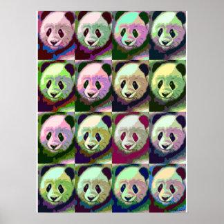 Poster del arte pop de la panda
