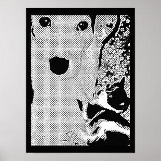 Poster del arte pop de los mejores amigos