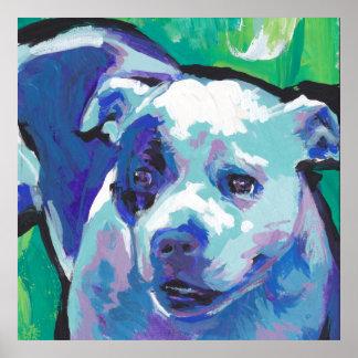 poster del arte pop de Staffordshire bull terrier