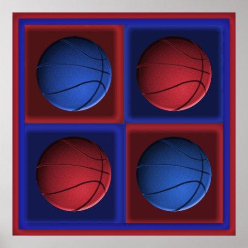 Poster del arte pop del baloncesto