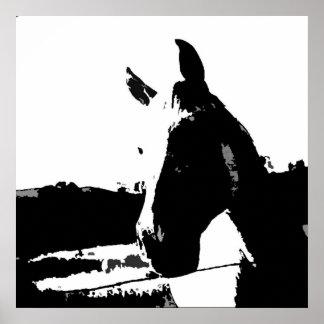 Poster del arte pop del caballo