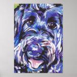 Poster del arte pop del perro de Labradoodle