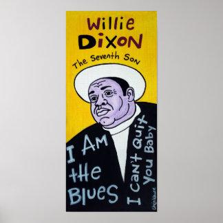 Poster del arte popular de los azules de Willie Di