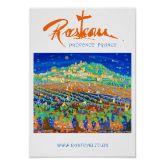 Poster del arte: Rasteau, Provence, Francia