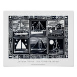 Poster del arte: Seis barcos de Cornualles. Imagen
