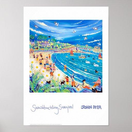 Poster del arte: Swanpool bravucón, Cornualles