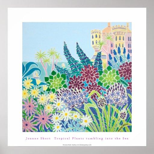 Poster del arte: Tumblng de las plantas tropicales