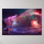 Poster del astronauta de la nebulosa