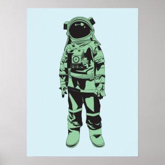 Poster del astronauta del vintage