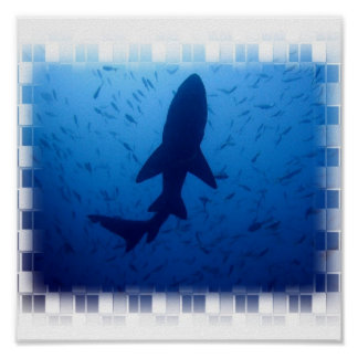 Poster del ataque del tiburón