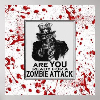 Poster del ataque del zombi