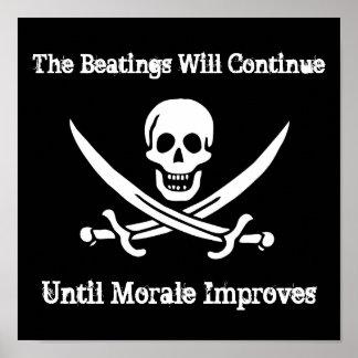 Poster del aumentador de presión de moral del pira