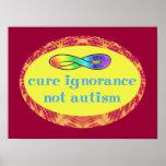 Poster del autismo de la ignorancia de la curación