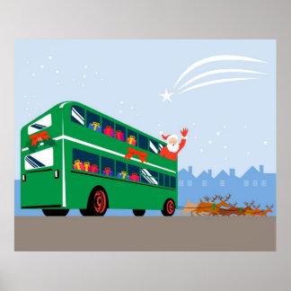 Poster del autobús del autobús de dos pisos de Pap