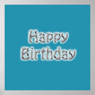 Poster del autógrafo del feliz cumpleaños