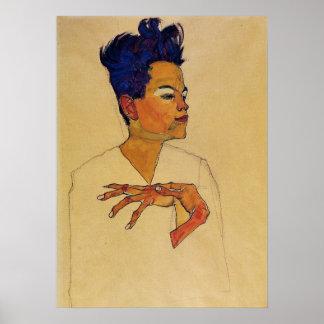 Poster del autorretrato de Egon Schiele Póster