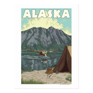 Poster del avión de Bush y del viaje del vintage Tarjeta Postal