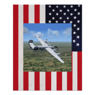 Poster del avión del bombardero de los E.E.U.U. de